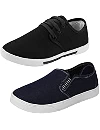 Bersache Men Combo Pack Of 2 Casual Shoes With Sports Shoes