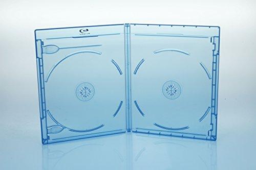 50 BluRay Hüllen 11mm / 2fach 2er BD Hüllen / Farbe: blau / high quality