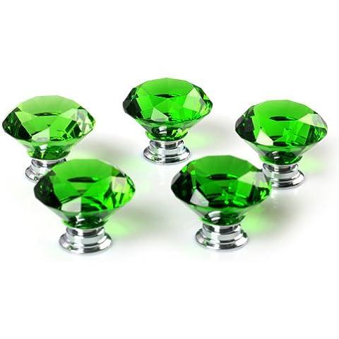 Revesun 6pcs/lot diametro 30mm Cristallo Verde In Vetro A Forma