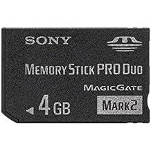 Sony MSMT4GN - Tarjeta de memoria Sony Memory Stick PRO Duo (4 GB, 160 Mbps) color negro