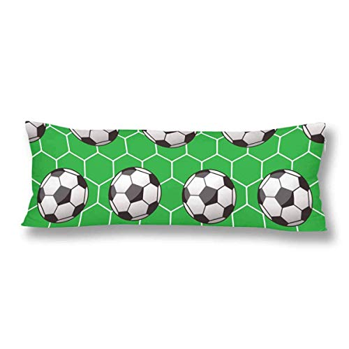 CiCiDi Seitenschläferkissen Kissen-Bezug 40x145 cm Lustiger Fußball Fußball Atmungsaktives Kissenhüllen mit Reißverschluss Baumwollen und Polyester -