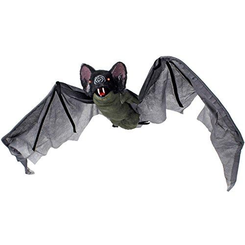 Animierte Riesen-Fledermaus Halloween Party-Deko schwarz-braun 120x50cm Einheitsgröße (Halloween Animierte Deko)