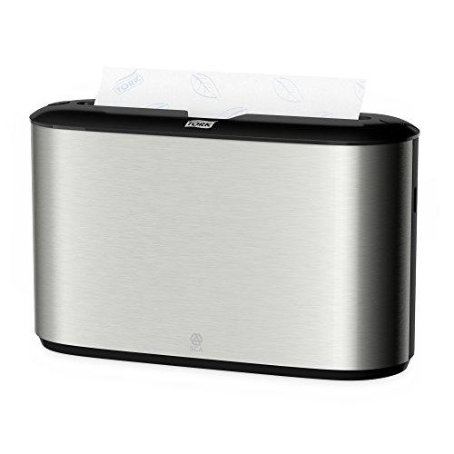 Tork 460005 - Dispensador de toallas de mano interdobladas, acero inoxidable