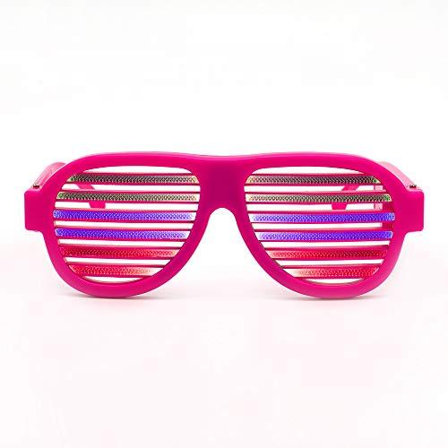 Y-XM LED Licht Oben Neon Verschluss Party Brille Zum Weihnachten Parteien Dekorationen Mit USB Aufladen und Musik