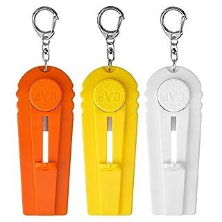 DECARETA 3 Stück Cap Zappa Bier Flaschenöffner mit Schlüsselanhänge Coole Kronkorken Schleuder für Jeder Party, Eisstisch (Weiß, Orange, Gelb)
