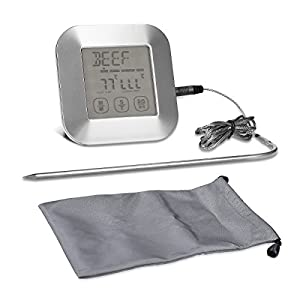 kwmobile digitales Bratenthermometer Grillthermometer Fleischthermometer - Ofen Fleisch Grill Steak BBQ - LCD Ofenthermometer Thermometer Temperatur
