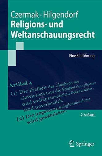 Religions- und Weltanschauungsrecht: Eine Einführung (Springer-Lehrbuch)