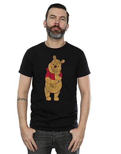 Disney Herren Winnie The Pooh Classic Pooh T-Shirt Schwarz XXX-Large