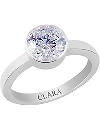 Clara Certified Zircon 6.5cts or 7.25ratti Elegant Silver Ring For Men & Women