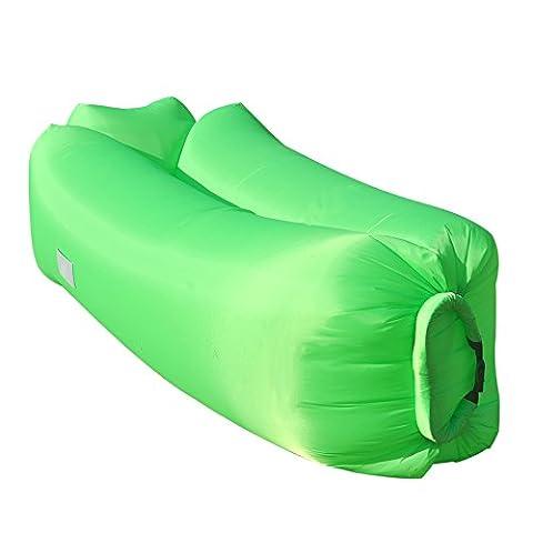 NOUVEAU RANCROSS Canapé Air Gonflable Matelas Gonflable avec Rangement pour extérieur étanche (vert)