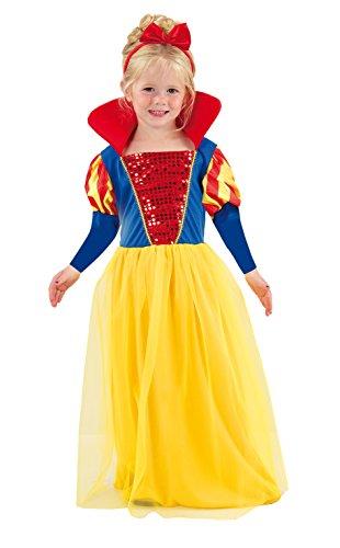 Fiori Paolo 61339.3-4 - Biancaneve Costume Bambina, Multicolore, 3-4 anni