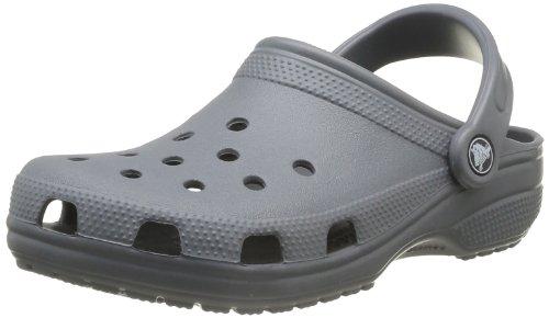 crocs Classic, Unisex-Erwachsene Clogs, Schwarz (Charcoal), 46/47 EU (US: M12) (Fashion Clog)