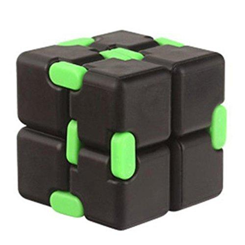 Preisvergleich Produktbild Infinity Cube,Huihong Zauberwürfel Lustige Spielzeug Luxus Edc Mini FüR Stress Relief Fidget Anti Angst Stress FüR Kinder Und Erwachsene Spielzeug Guft (Schwarz)