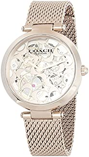 Coach Womens Quartz Wrist Watch, Ionic Plated Carnation Gold Steel - 14503595