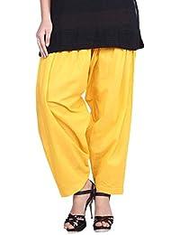 Kurti Studio Women Yellow Semi Patiala Salwar