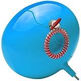 Meliconi Guscio Box - Caja fuerte portátil con llave y pulsera, para playa, camping, deportes aire libre, gimnasio, montaña, color azul