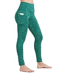 ALONG FIT High Waist Hosen für Damen Grün mit Taschen, Nicht durchsichtig Sporthose Damen Dehnbar Yogahosen für Damen