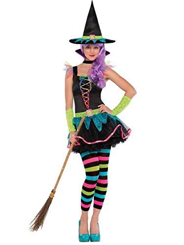 Neon Witch - Teen Costume AMS TEEN SML (10-12) (Halloween-kostüm Hocus Pocus)
