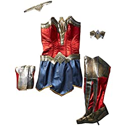 Justice League Adult Deluxe Wonder Woman Fancy dress costume Small