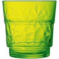 Luminarc Funny Flowers - Set 6 vasos bajos 25 cl Green Funny Flowers