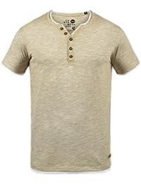 Solid Bigos Herren T-Shirt Kurzarm Shirt Mit Grandad-Ausschnitt Im Double- e8e477b844