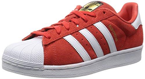 adidas Originals Herren Superstar Suede Sneakers rot/weiß