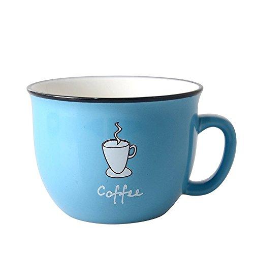 HwaGui Personalisierte Keramik Tasse Kaffee Milch Suppe Tee Becher Geschirrspüler sicher, Blau,...