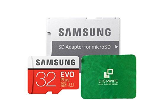 Scheda di memoria micro-sd evo plus per samsung s7, s7+, s8, s8+, s9, s9plus cellulari–include digi pulire con un panno in microfibra