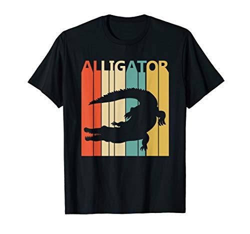 Lustig Retro der Alligator Tier T-Shirt (T-shirt Alligator-erwachsenen)