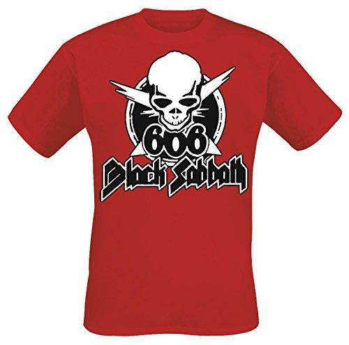 Black Sabbath 666 Skull Camiseta Rojo S