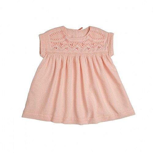 Fantine (Tia&Aina - süßes Kleid - Fantine - Rosa - handbestick Neon, 100% Polyester, gekreppt (2)