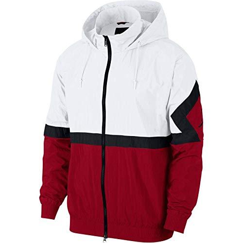 Nike Men's Jordan Sportswear Diamond White/Red AQ2683-100 (Size: M) Nike Mock Neck