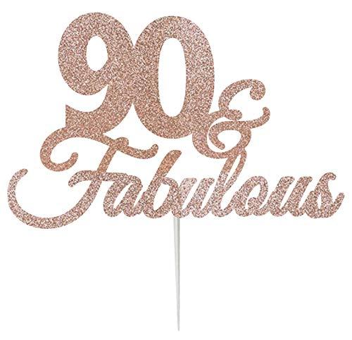 LissieLou 90 & Fabulous Cake Topper - Tarjeta felicitación