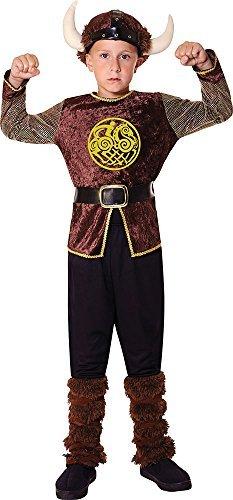 Kinder Mittelalterlicher Krieger Saxon Kostüm Party Outfit Viking Junge Kostüm - Multi, (Krieger Mittelalterliche Kind Kostüme)