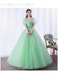 14e4892ebe QAQBDBCKL Manga Verde Claro Flores Vestido Bordado Vestido Medieval Vestido  Renacentista Reina Victoriano Gótico Marie