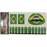 Olympic Nationalflagge Temporäre Tätowierung Gesicht Lippe Nagel Aufkleber Setzt Tattoos Brasilien