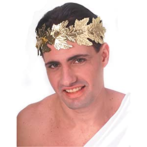 Gold Roman Laurel Wreath Leaves Headdress Fancy Dress (gorro/ sombrero)