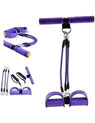 Gesentur® Bandas de resistencia - Ejercicios de resistencia Cintas de tensión de látex Equipo de fitness para reposapiés y pecho elástico ( Morado )