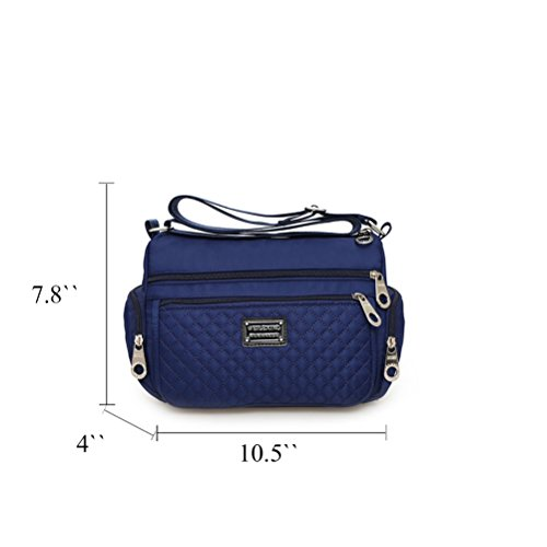 Honeymall le donne casuale multi tasca Borsa a tracolla impermeabile Viola Blu