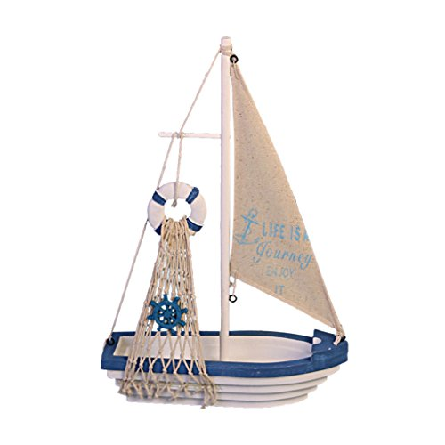 Nautico Barca A Vela Mini Boa Di Legno Veliero Tavolo usato  Spedito ovunque in Italia