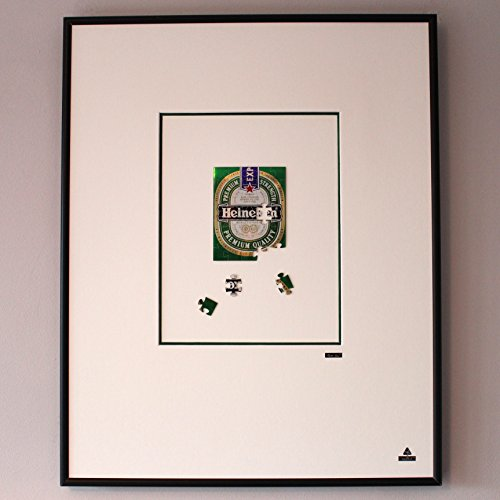 Martin Allen can Art - Heineken Puzzle in large aluminum frame