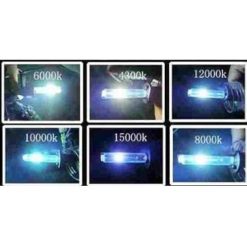 Bombilla de repuesto D1S xenón para Audi, BMW, VW y Mercedes (6000 K, HID, 2 unidades)