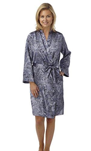 Exciteclothing -  Vestito  - avvolgente - Maniche lunghe  - Donna blu navy