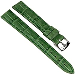 Morellato Bolle Replacement Band Watch Band Leather Kalf Strap green 14mm 20151S