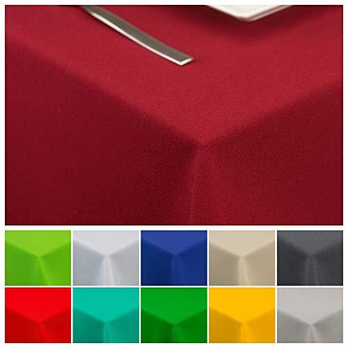 StoffTex Tischdecke Tischläufer Tischtuch Tischwäsche Tischdekoration Tafeltuch (Weinrot, 140 x 240 cm)