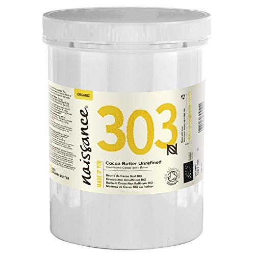 Naissance Kakaobutter unraffiniert BIO (Nr. 303) 1kg (1000g) - 100% rein und natürlich