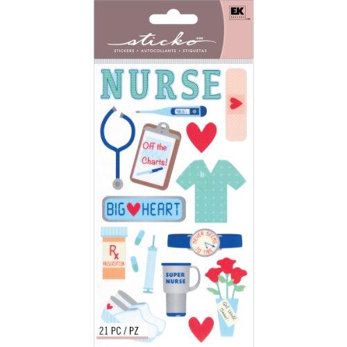 Unbekannt Sticko Scrapbooking Aufkleber Registered Nurse -