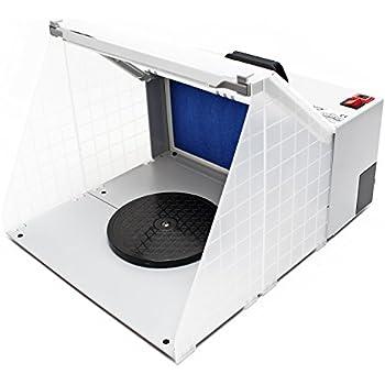 Airbrush Cabine d'aspiration illuminé pour Airbrush 12 Volt 4m³/min HS-E420DCLK