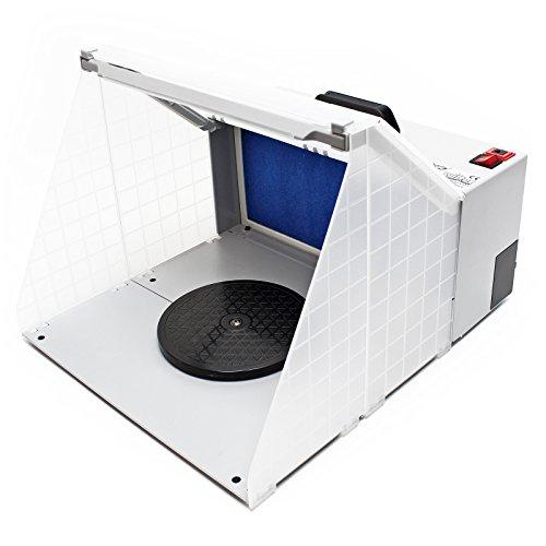 Airbrush Zubehör Absauganlage 4m³ / min Filter Farbnebel beleuchtet -