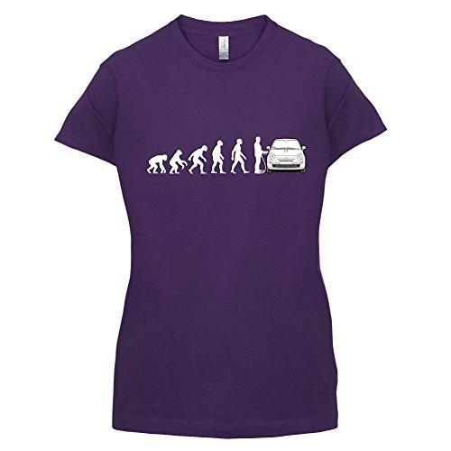 Evolution of Man - Fiat 500 Fahrer - Damen T-Shirt - 14 Farben Lila